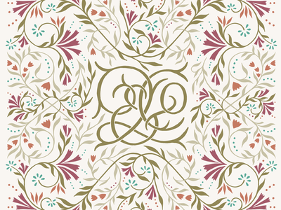 Q_Co pattern lettering illustration monogram