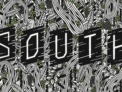 South pattern illustration type typography lettering