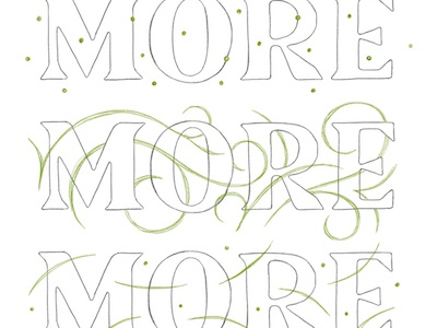 More More More design illustration hand lettering type design type typography lettering