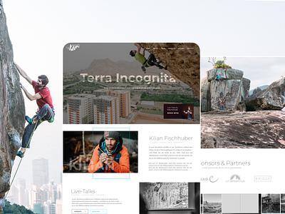 Professional Austrian Climber - Live clean small project live climbing website design