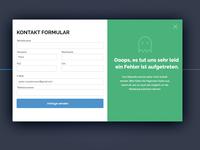 Error Screen - Contact Form