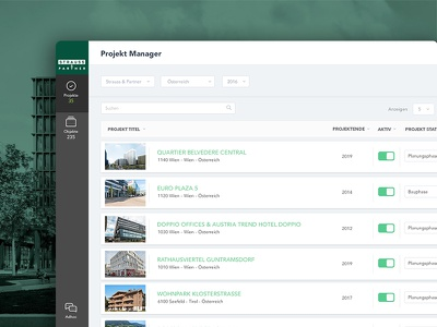 Project Management Dashboard dashboard web ui manager real estate