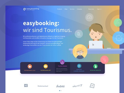 Website Landing Screen easybooking webdesign illustrations landingpage