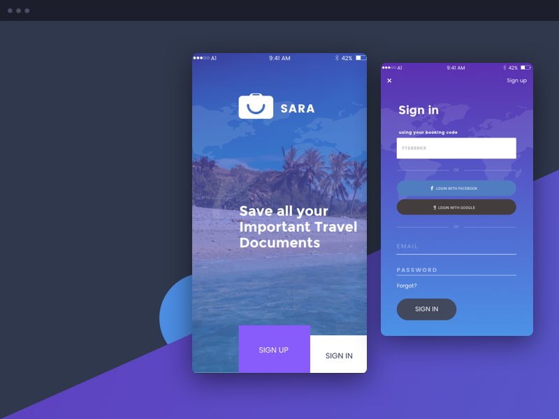 Welcome Screen Sara App By Christoph Haid