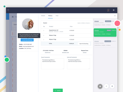 History of Bookings history user white ux ui