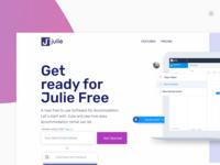 Julie Project landing page