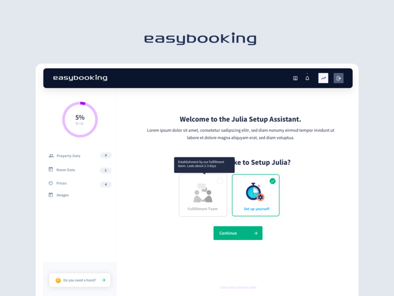 easybooking - Wizard Part 1