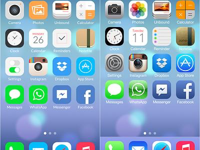 iOS 7 Redesign ios redesign mobile ui ux