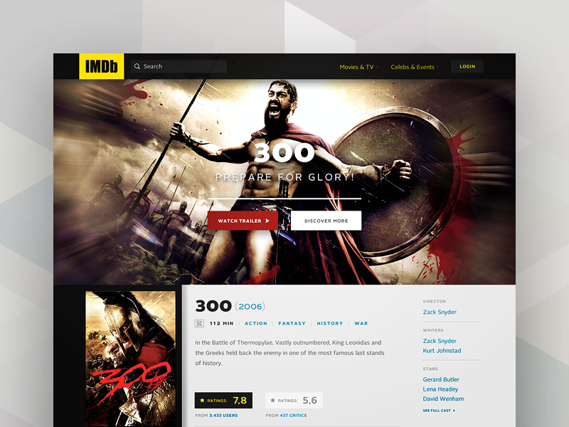 IMDb Movie Page Redesign by Lucas Vilas Boas | Dribbble