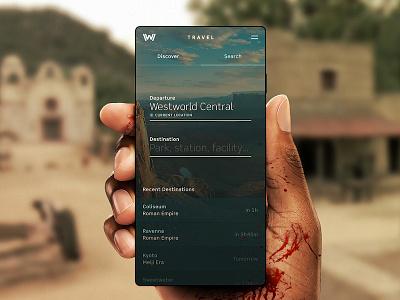 Westworld Travel App mobile travel ux ui app westworld
