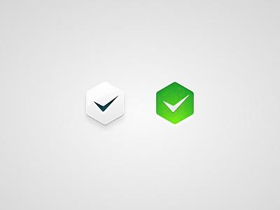 Hexagonal Check Buttons ui