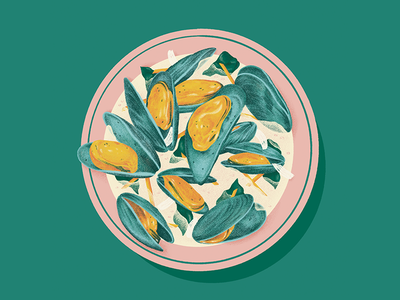 Mussels mussel broth recipe seafood mussels food illustration