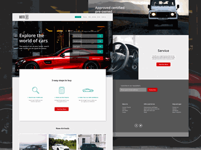 Moto R. A luxury automotive website homepage. web ux user ui shop prototype mobile interface interaction gif experience app