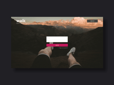Walk app. Explore the world together. web ux user ui prototype mobile interface interaction travel experience creative app