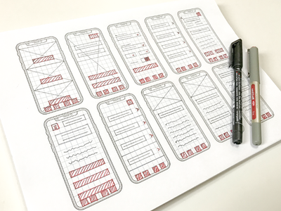 Wireframes – low fidelity sketch web ux user ui prototype mobile interface interaction experience creative wireframes app