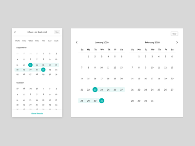 Responsive calendar wireframes web ux user ui prototype mobile interface interaction experience creative app