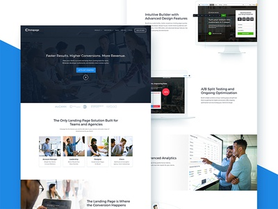 Instapage- Page for Agencies stats landing page builder landing pages website web design agencies instapage