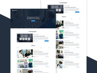 Page with Webinars