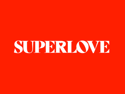 SUPERLOVE identity brand design super 8 logo design typography logo branding