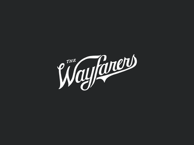 Hand-Lettered Logo for The Wayfarers Photography: logo mark logo design logotype lettering art hand drawn typography lettering lettering logo hand lettering hand drawn illustration branding logo typography handlettering