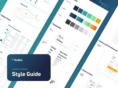 UI Styleguide for Web Application branding logo design gradient typography uiux uidesign styleguide moodboard app web app ui design ui