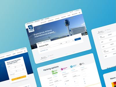 Airport UI Designs animation dailyui ui design typography gradient ui