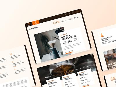 Barista Seminars UI Designs gradient minimal web ux app interaction design ui design typography ui