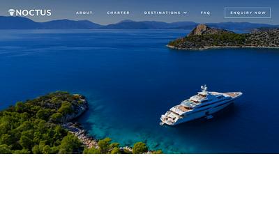 Luxury Yachts UI Design web  design ui design