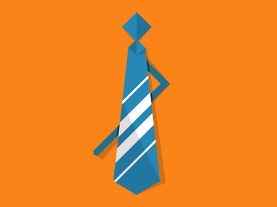 Tie tie fathers day dad gift suit business orange blue white