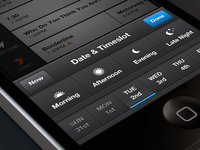 OzTV iPhone Date/Time Selector