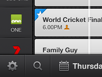 OzTV iPhone Tabs - Settings & Discover