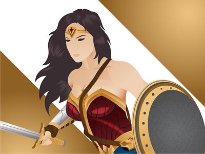 Princess of Themiscyra dribbble graphicdesign character ww84 dccomics dc wonderwoman releasethesnydercut shot vector follow illustration design