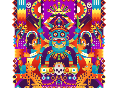 Primal Gods abstract adobe dribbble maya aztec graphicdesign shot vector follow illustration design