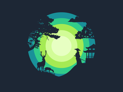 Sunsets and Silhouettes new sketch asia nature dribbble shot abstract graphicdesign follow vector design illustration