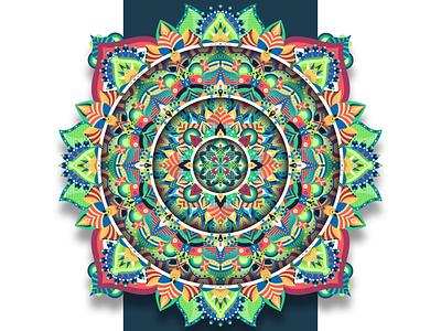 HEAL abstract shot zentangle zen mandala art mandala dribbble graphicdesign vector follow design illustration