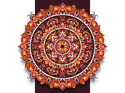 LIVE spiritual abstract zenart doodle zentangle mandala art dribbble shot vector follow design illustration