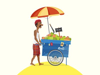 Just Chennai things! coconut art shop vendor dribbble graphicdesign shot vector follow design illustration