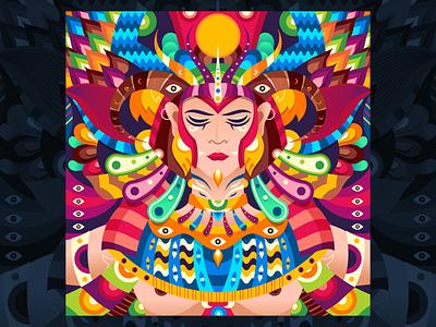 Hathor adobe abstract character dribbble graphicdesign shot vector follow design illustration