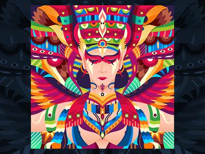 Isis character mythology egyptian adobe dribbble graphicdesign shot vector follow design illustration