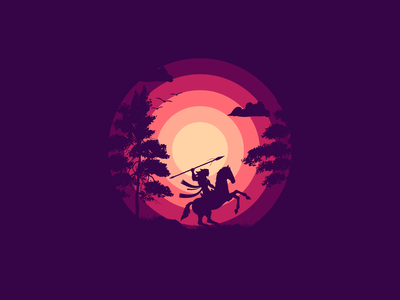 Sunsets and Silhouettes graphic adobe logo dribbble graphicdesign shot vector follow design illustration