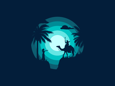 Sunsets and Silhouettes silhouette abstract desert adobe dribbble graphicdesign shot vector follow design illustration