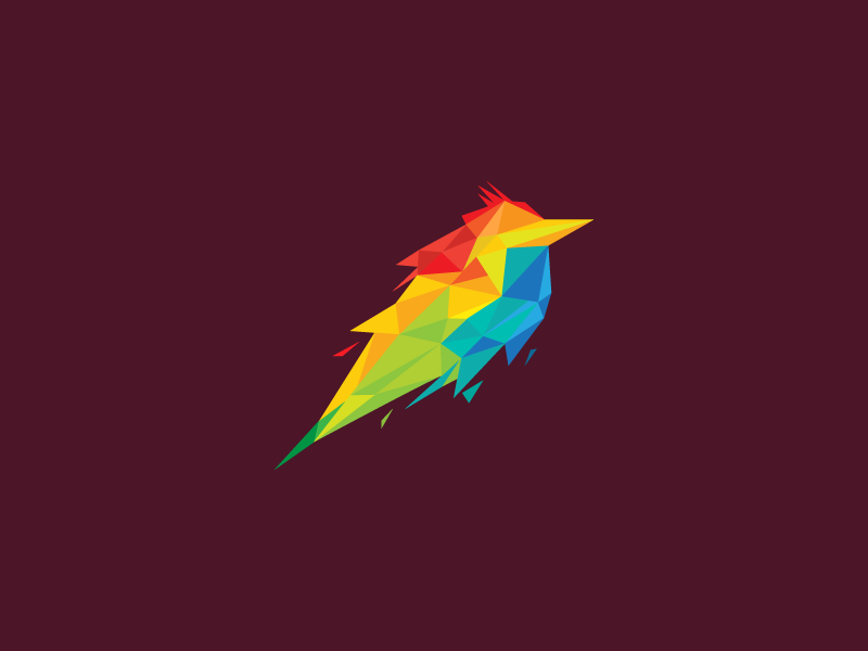 Colorful Low Poly Bird