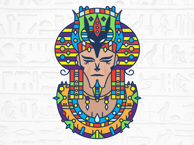 Seth vector shot seth illustration gods follow pharaoh egypt design