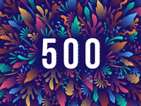 500 FOLLOWERS ON DRIBBBLE