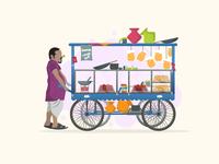 Masala Puris and snacks