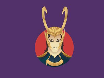 The God of Mischief follow shot design vector illustration character marvel thor asgard loki