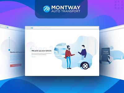Illustrations | Montway website ux ui landing web site web design order drawing gradient truck car colorful illustration