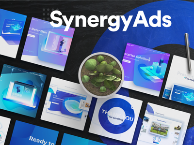 SynergyAds | Web design webpage ux ui product page marketing website branding webdesign landing