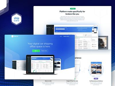 Ship.Cars webdesign dashboard webpage ux ui product page marketing website webapp webdesign landing