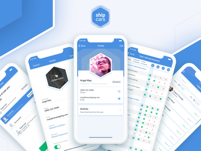 User Management | Ship.Cars product web profile app ux ui management users user
